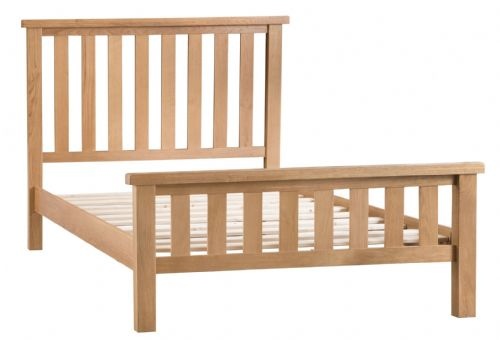 Cornish Oak Low Foot End Bed